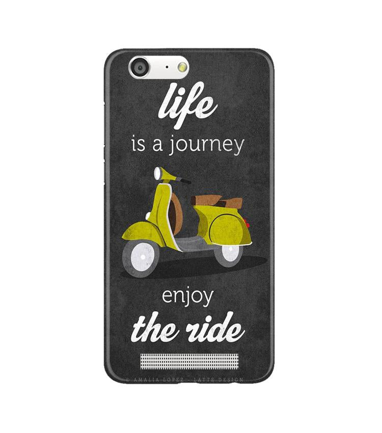 Life is a Journey Case for Gionee M5 (Design No. 261)