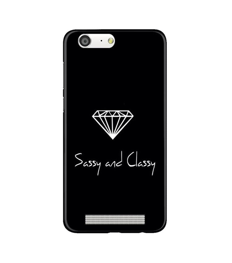 Sassy and Classy Case for Gionee M5 (Design No. 264)