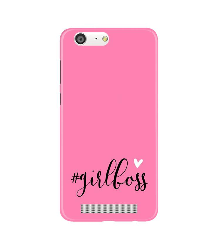 Girl Boss Pink Case for Gionee M5 (Design No. 269)