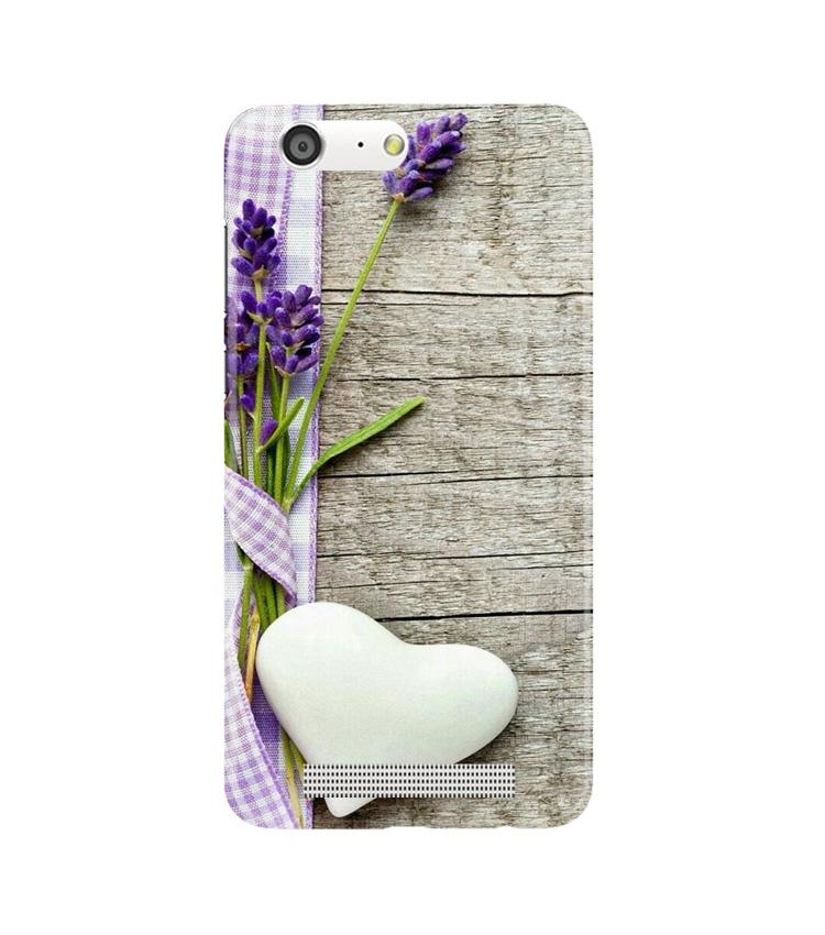 White Heart Case for Gionee M5 (Design No. 298)