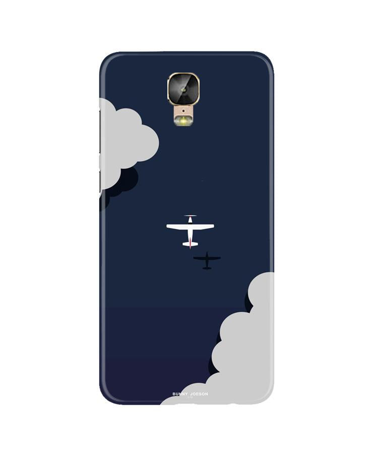 Clouds Plane Case for Gionee M5 Plus (Design - 196)
