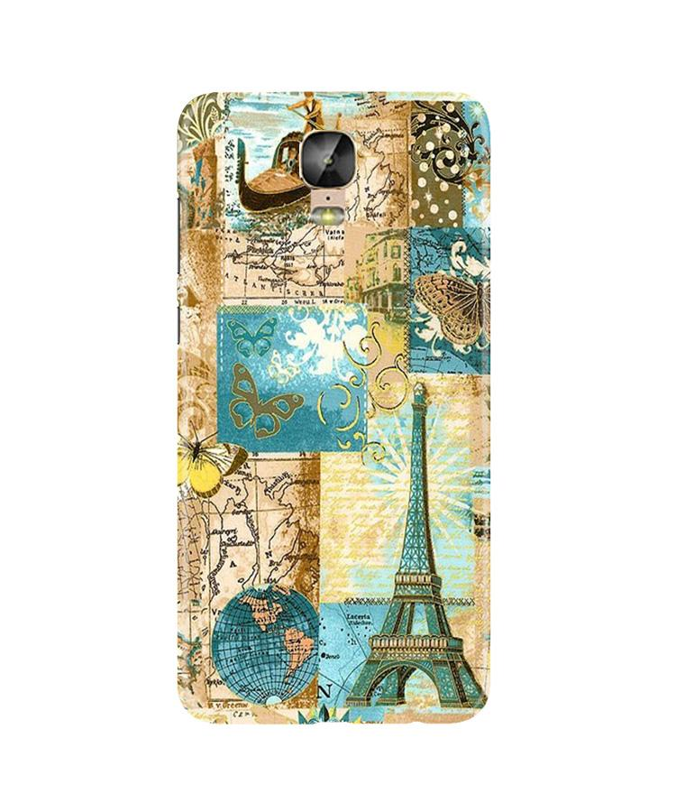 Travel Eiffel Tower Case for Gionee M5 Plus (Design No. 206)