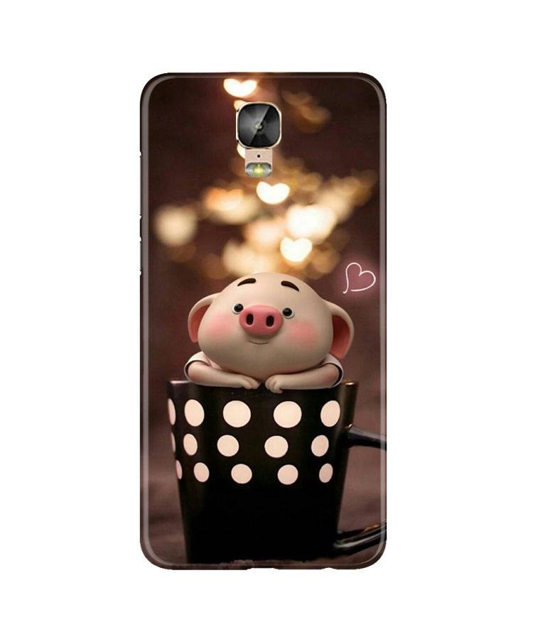 Cute Bunny Case for Gionee M5 Plus (Design No. 213)