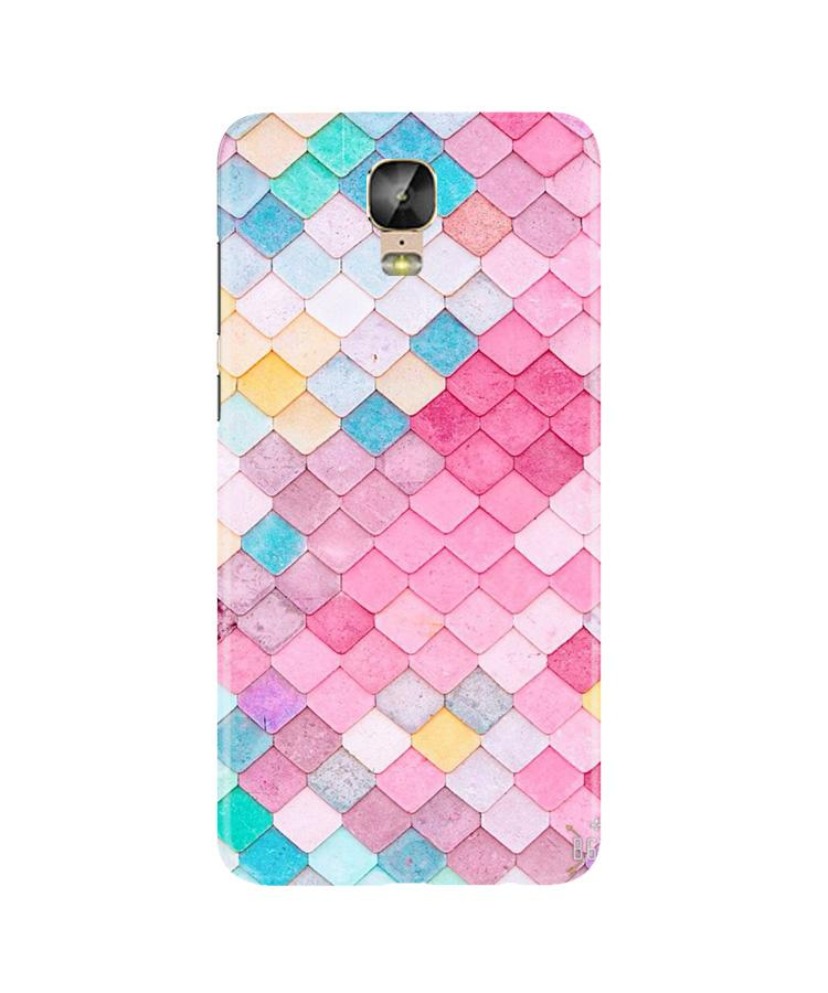 Pink Pattern Case for Gionee M5 Plus (Design No. 215)