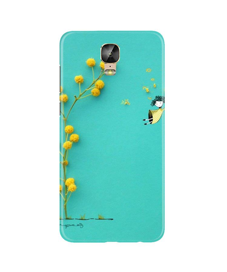 Flowers Girl Case for Gionee M5 Plus (Design No. 216)