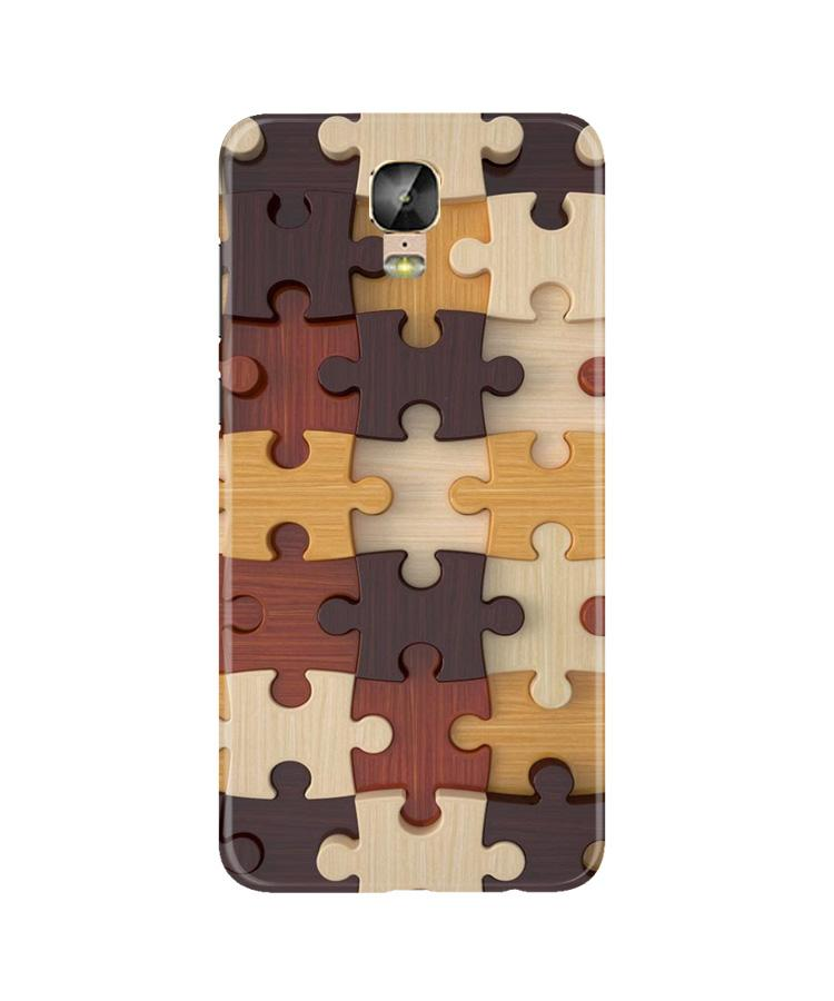 Puzzle Pattern Case for Gionee M5 Plus (Design No. 217)