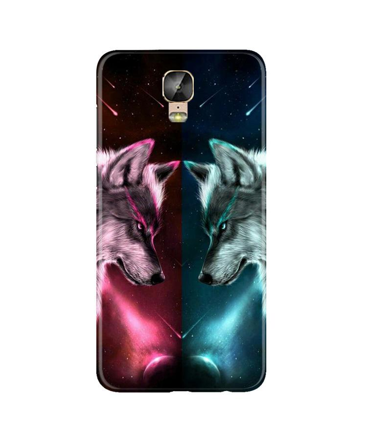 Wolf fight Case for Gionee M5 Plus (Design No. 221)