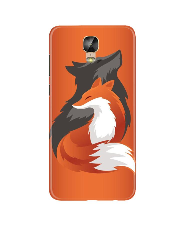Wolf  Case for Gionee M5 Plus (Design No. 224)