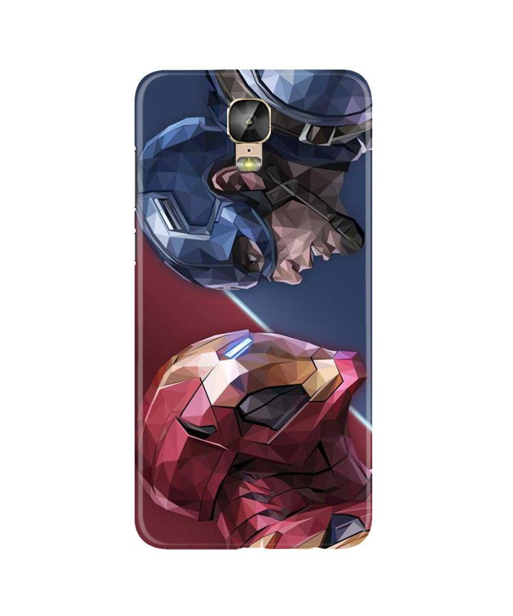 Ironman Captain America Case for Gionee M5 Plus (Design No. 245)