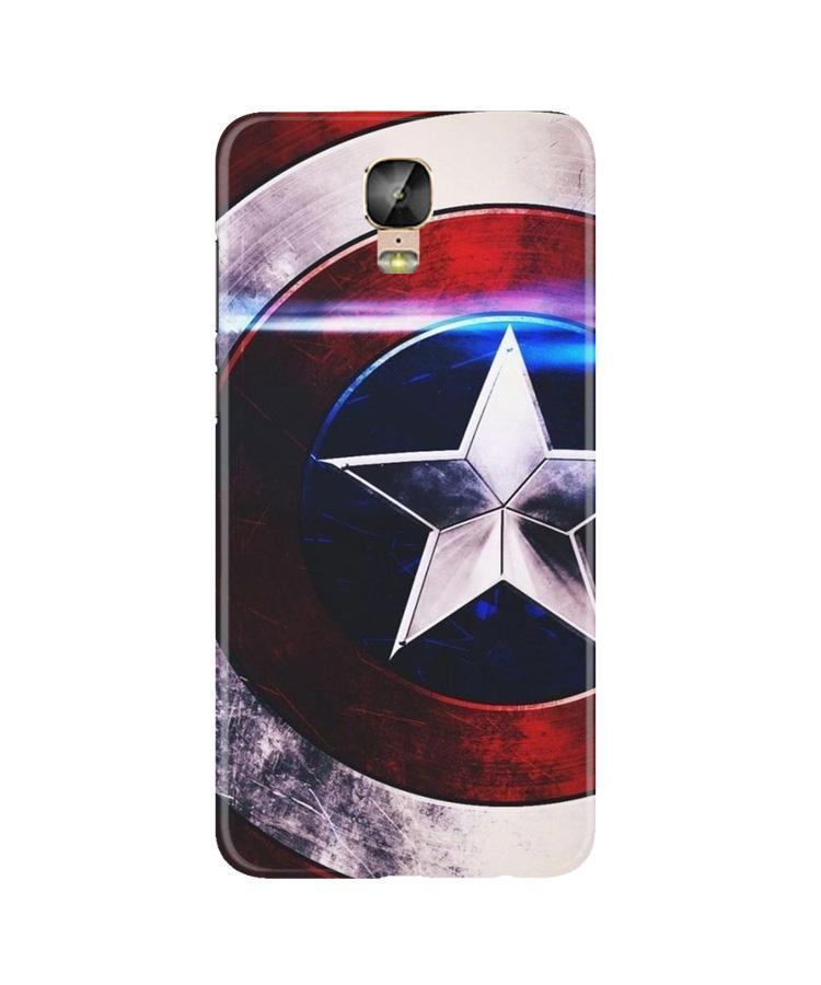 Captain America Shield Case for Gionee M5 Plus (Design No. 250)