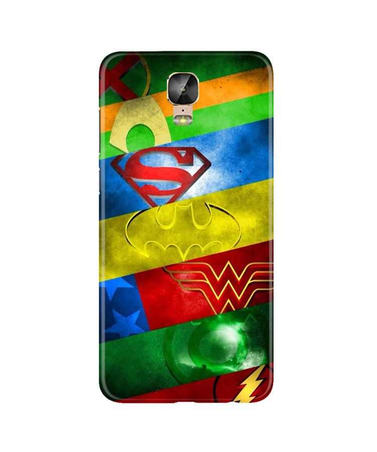 Superheros Logo Case for Gionee M5 Plus (Design No. 251)
