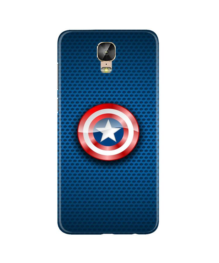 Captain America Shield Case for Gionee M5 Plus (Design No. 253)