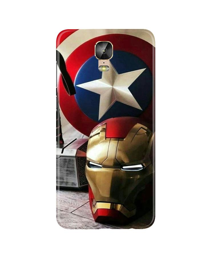 Ironman Captain America Case for Gionee M5 Plus (Design No. 254)