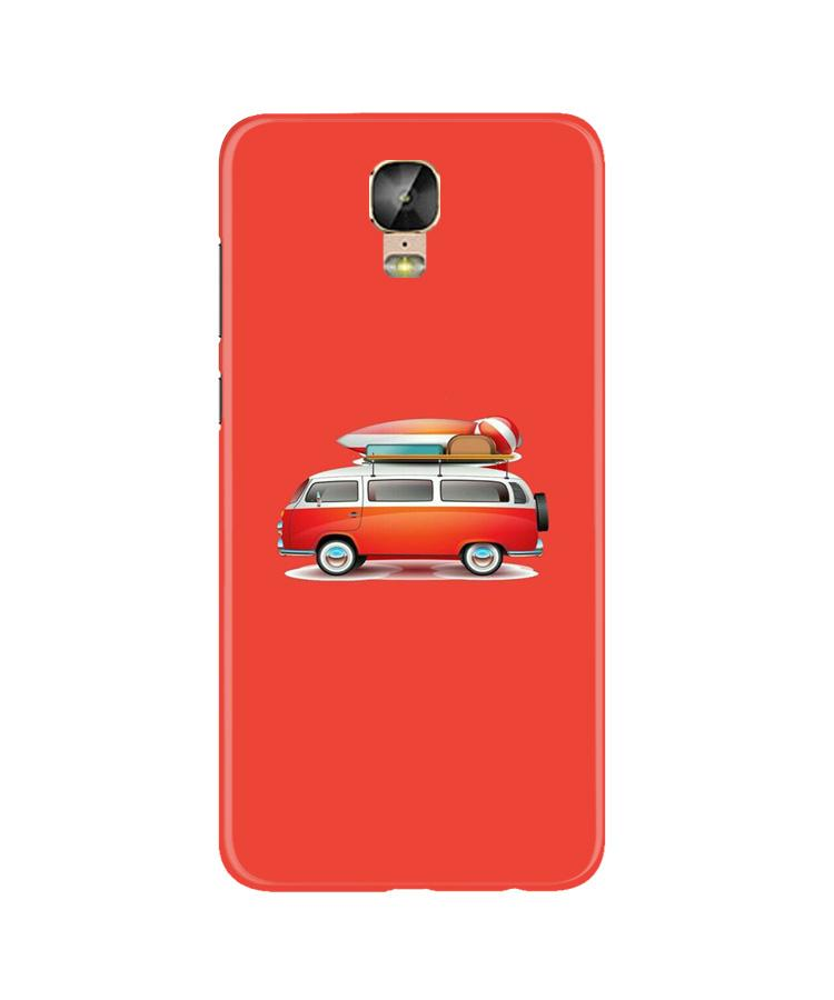 Travel Bus Case for Gionee M5 Plus (Design No. 258)