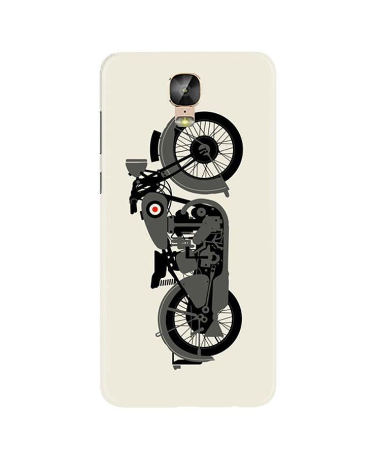 MotorCycle Case for Gionee M5 Plus (Design No. 259)