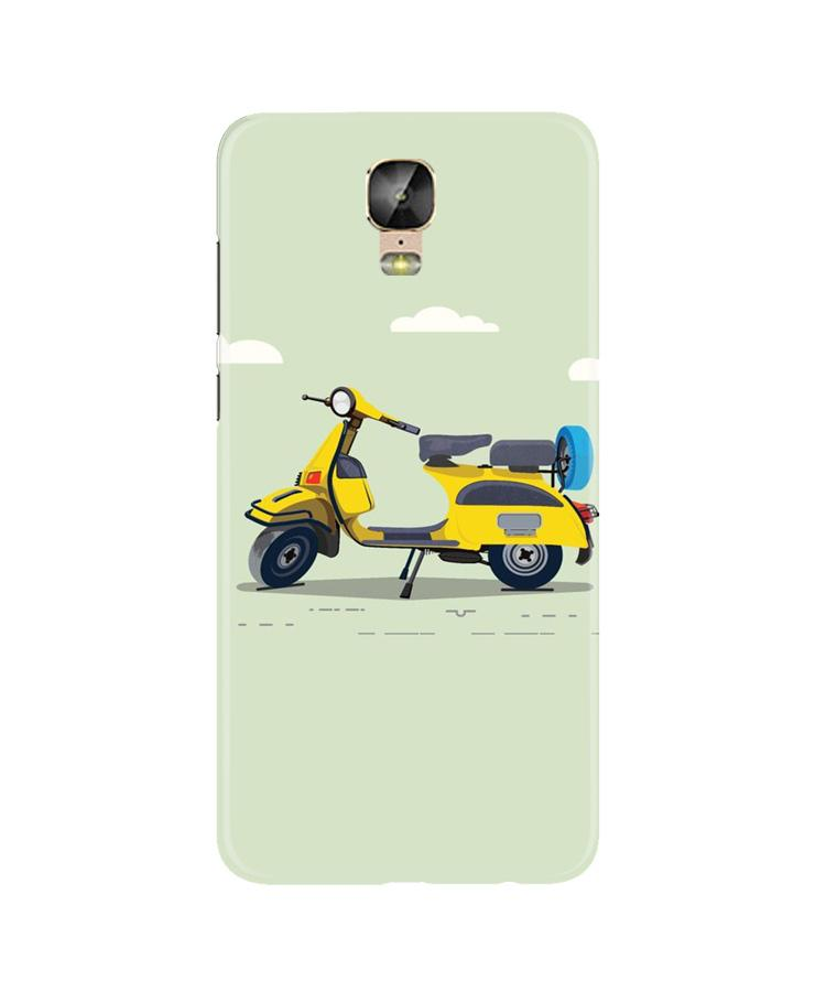 Vintage Scooter Case for Gionee M5 Plus (Design No. 260)