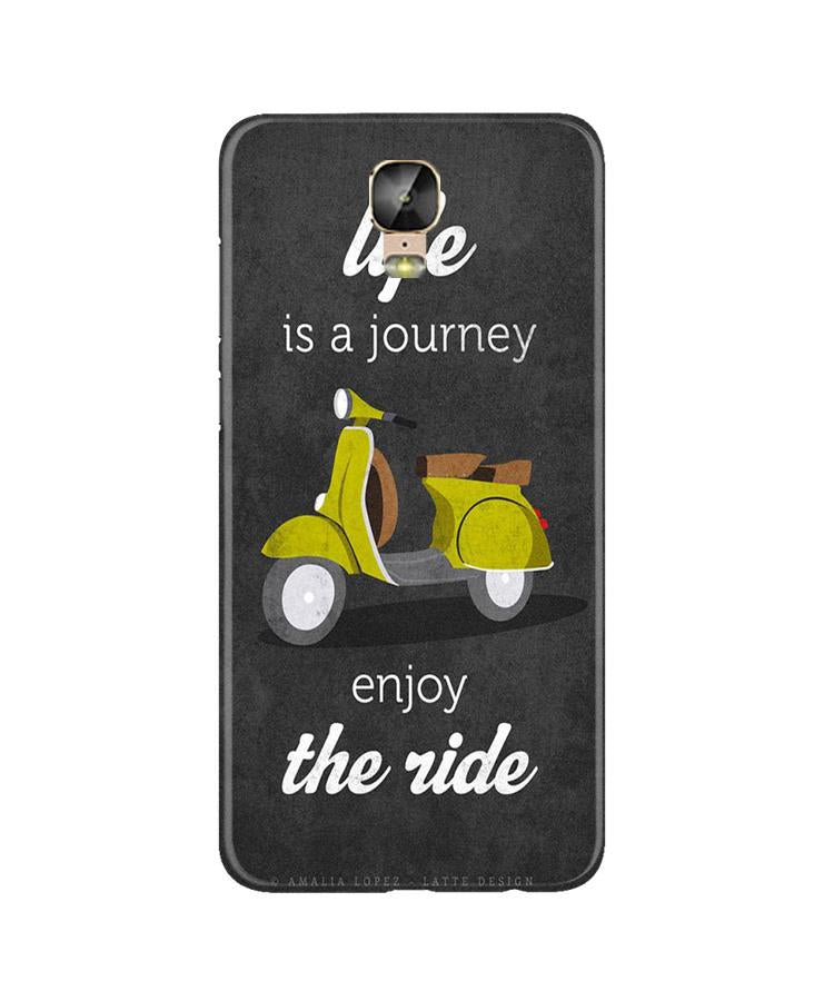 Life is a Journey Case for Gionee M5 Plus (Design No. 261)