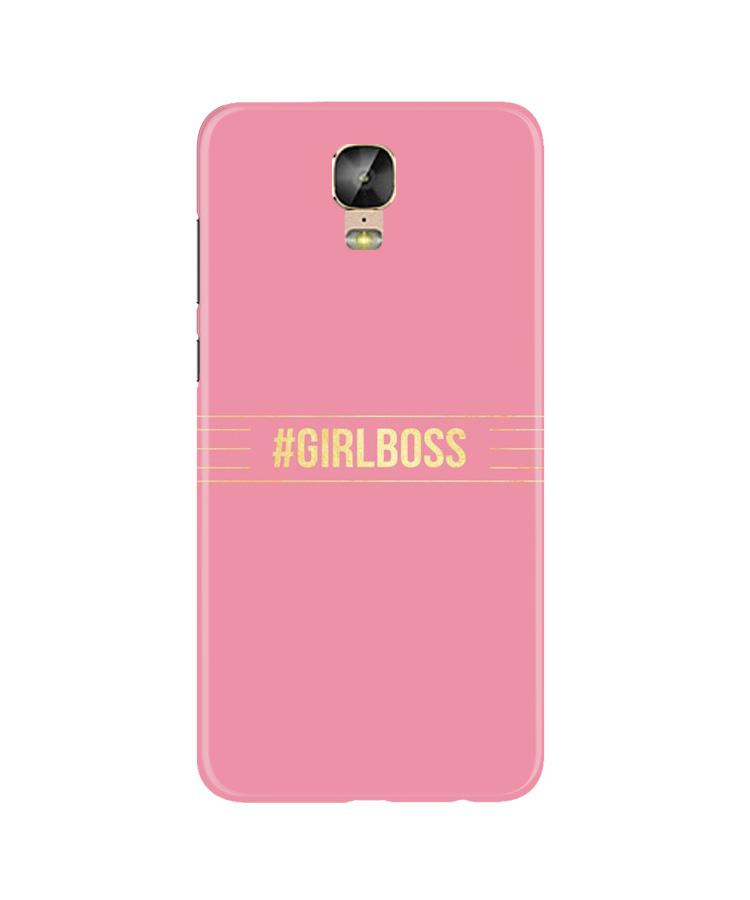 Girl Boss Pink Case for Gionee M5 Plus (Design No. 263)