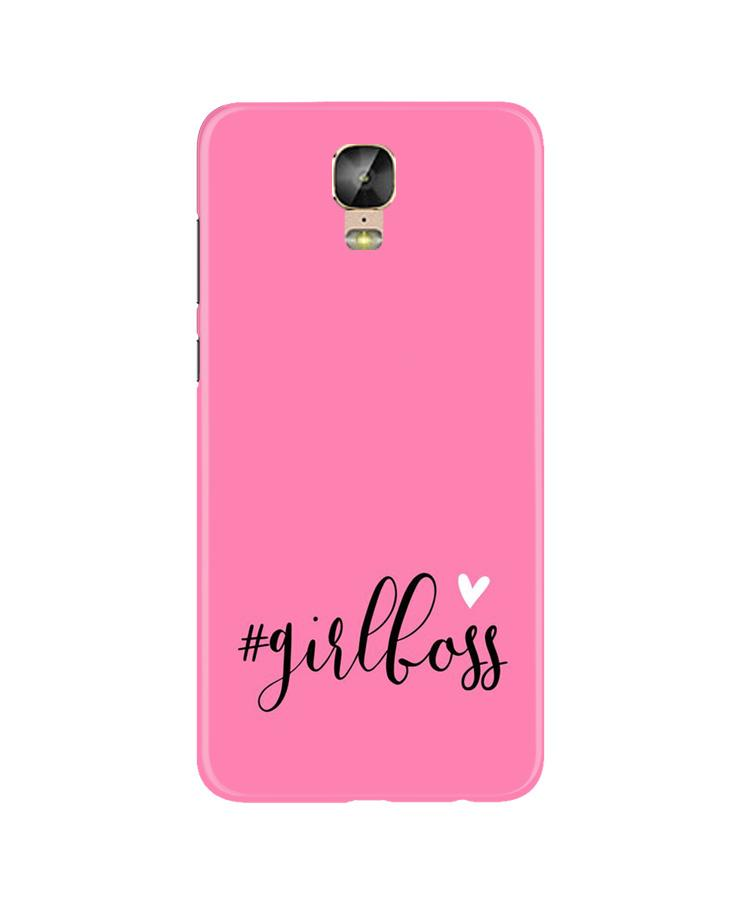 Girl Boss Pink Case for Gionee M5 Plus (Design No. 269)