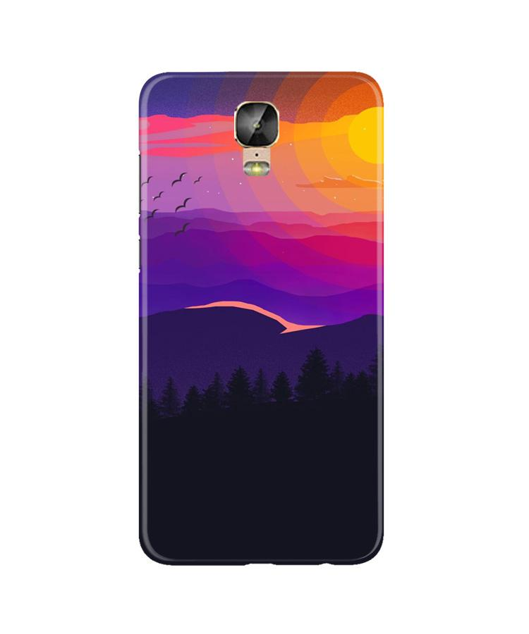 Sun Set Case for Gionee M5 Plus (Design No. 279)