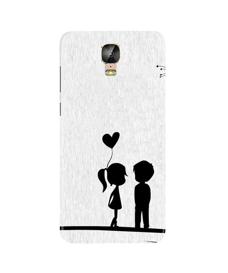 Cute Kid Couple Case for Gionee M5 Plus (Design No. 283)