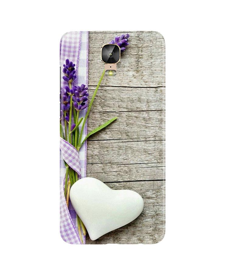 White Heart Case for Gionee M5 Plus (Design No. 298)