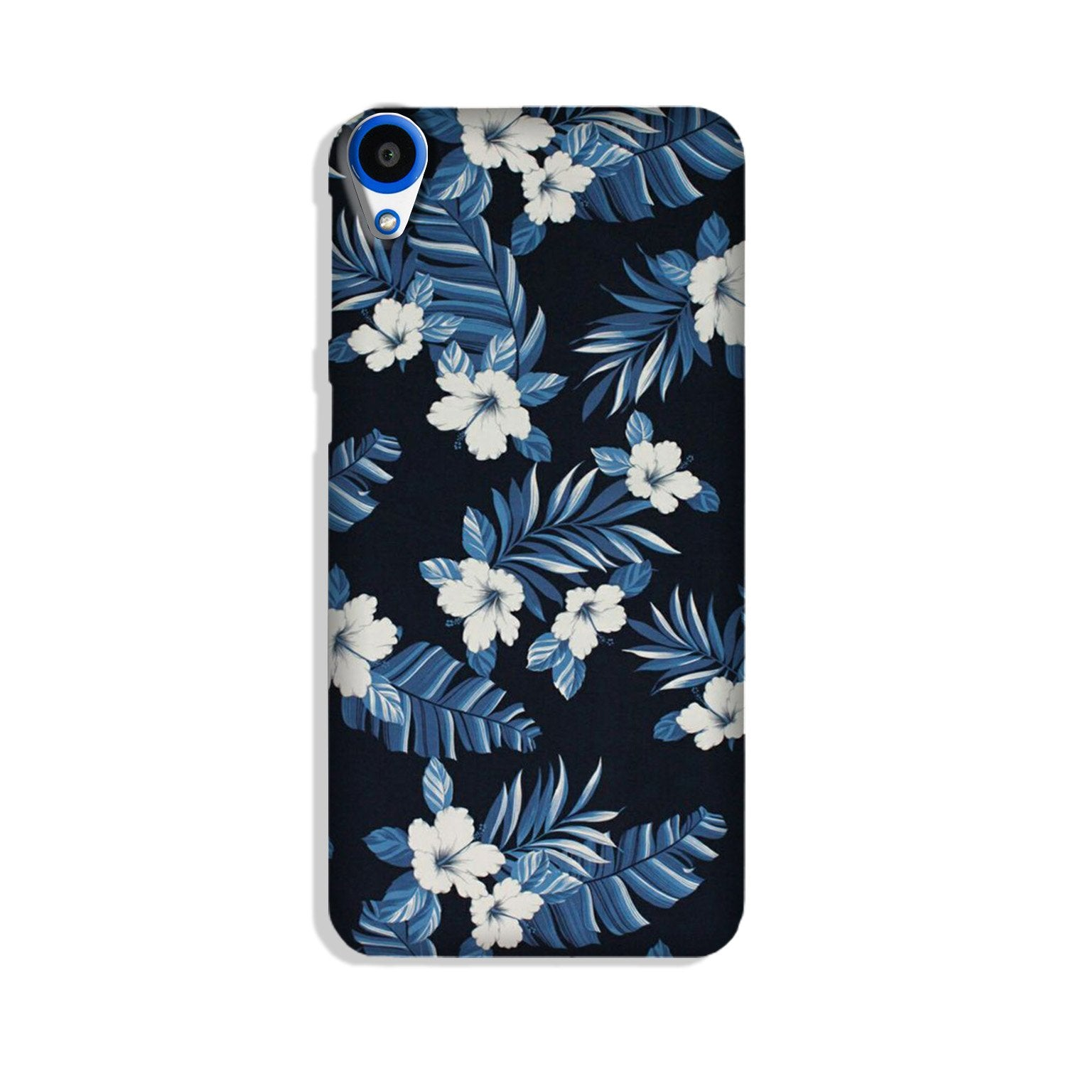 White flowers Blue Background2 Case for HTC Desire 820