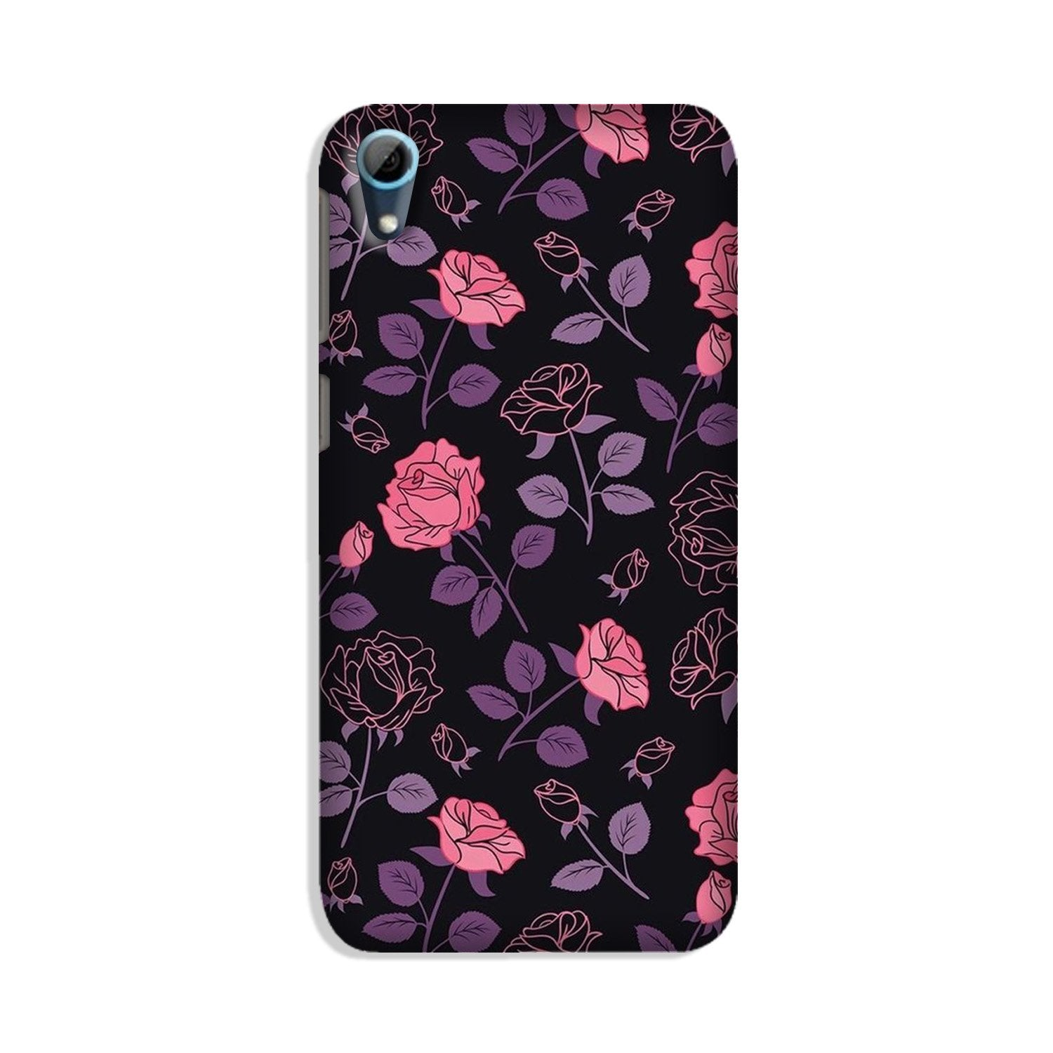 Rose Black Background Case for HTC Desire 826