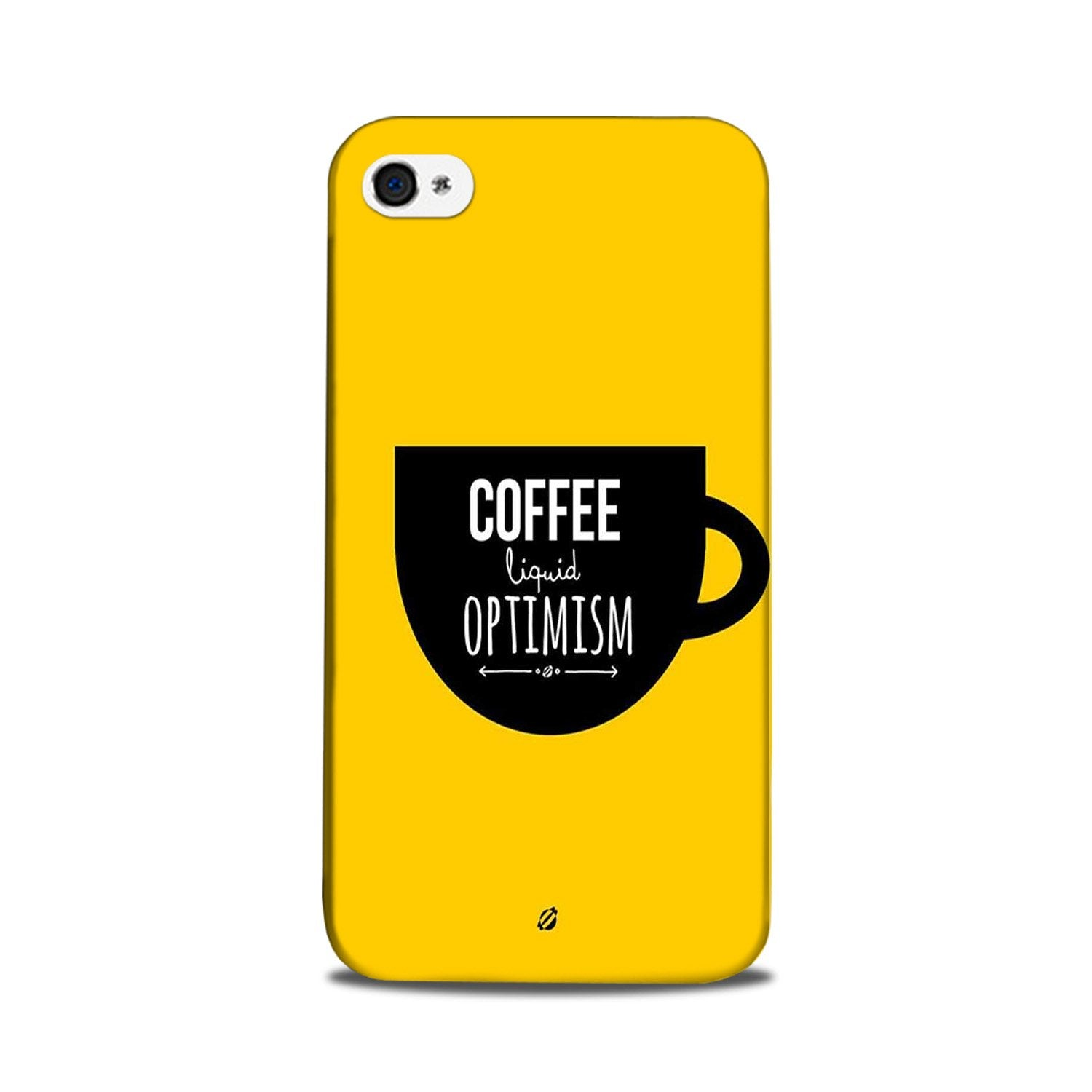 Coffee Optimism Mobile Back Case for iPhone 5/ 5s  (Design - 353)