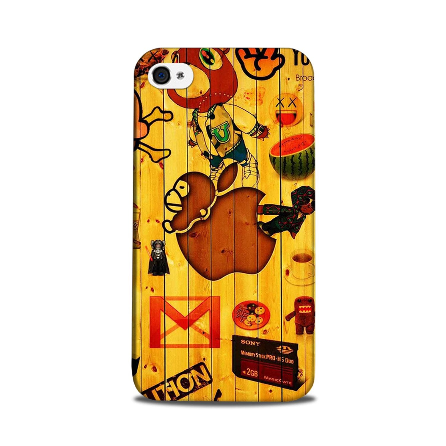 Wooden Texture Mobile Back Case for iPhone 5/ 5s  (Design - 367)