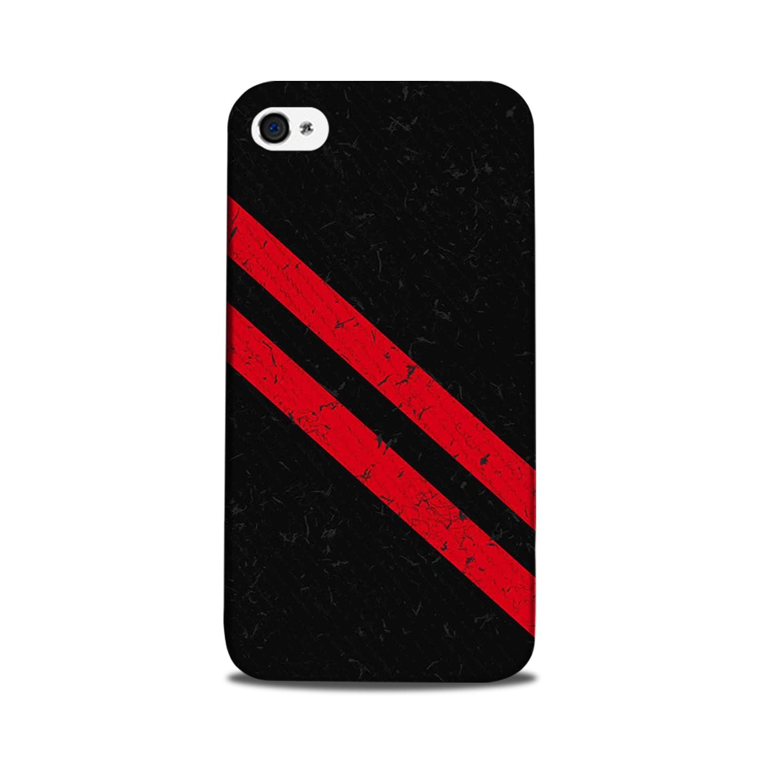 Black Red Pattern Mobile Back Case for iPhone 5/ 5s  (Design - 373)