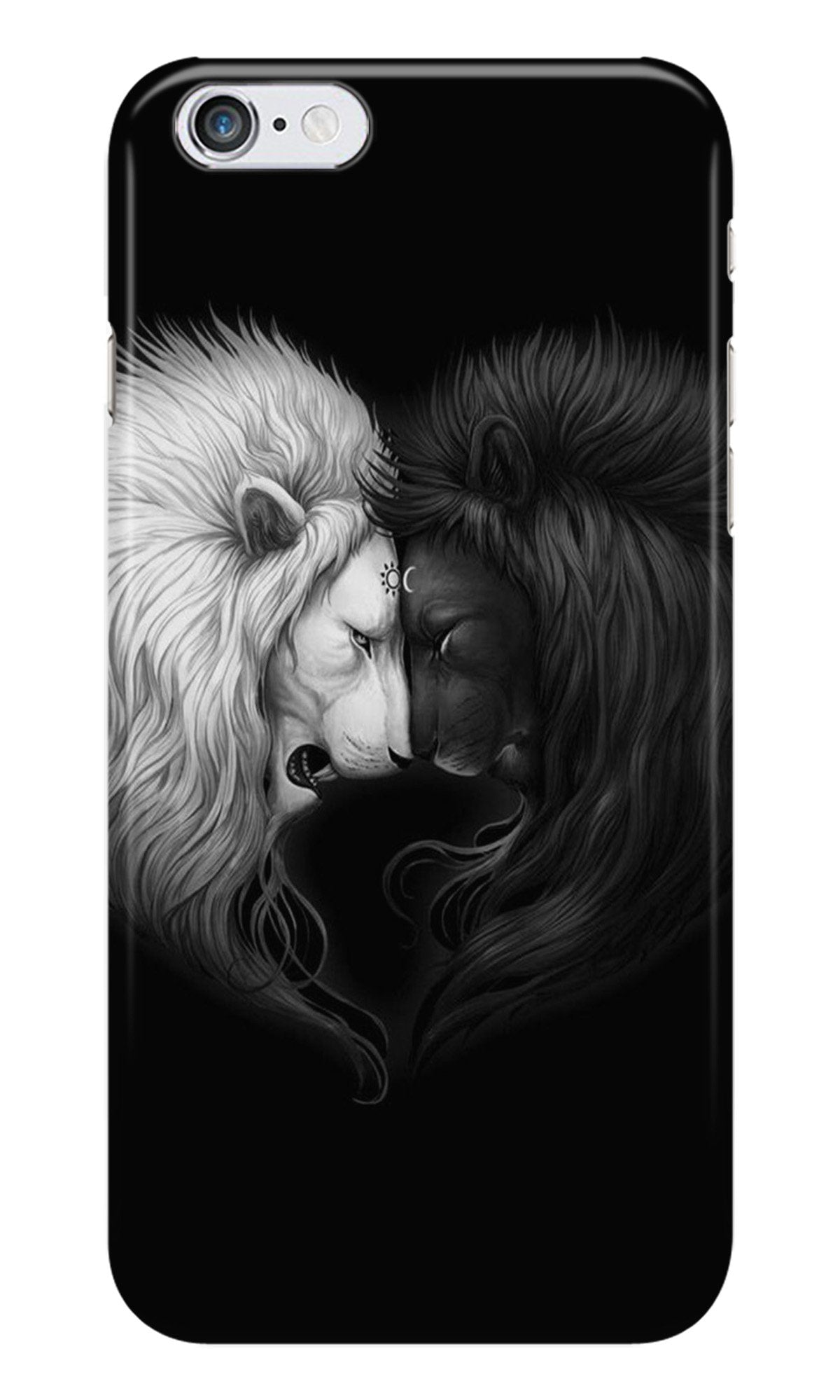 Dark White Lion Case for iPhone 6/ 6s  (Design - 140)