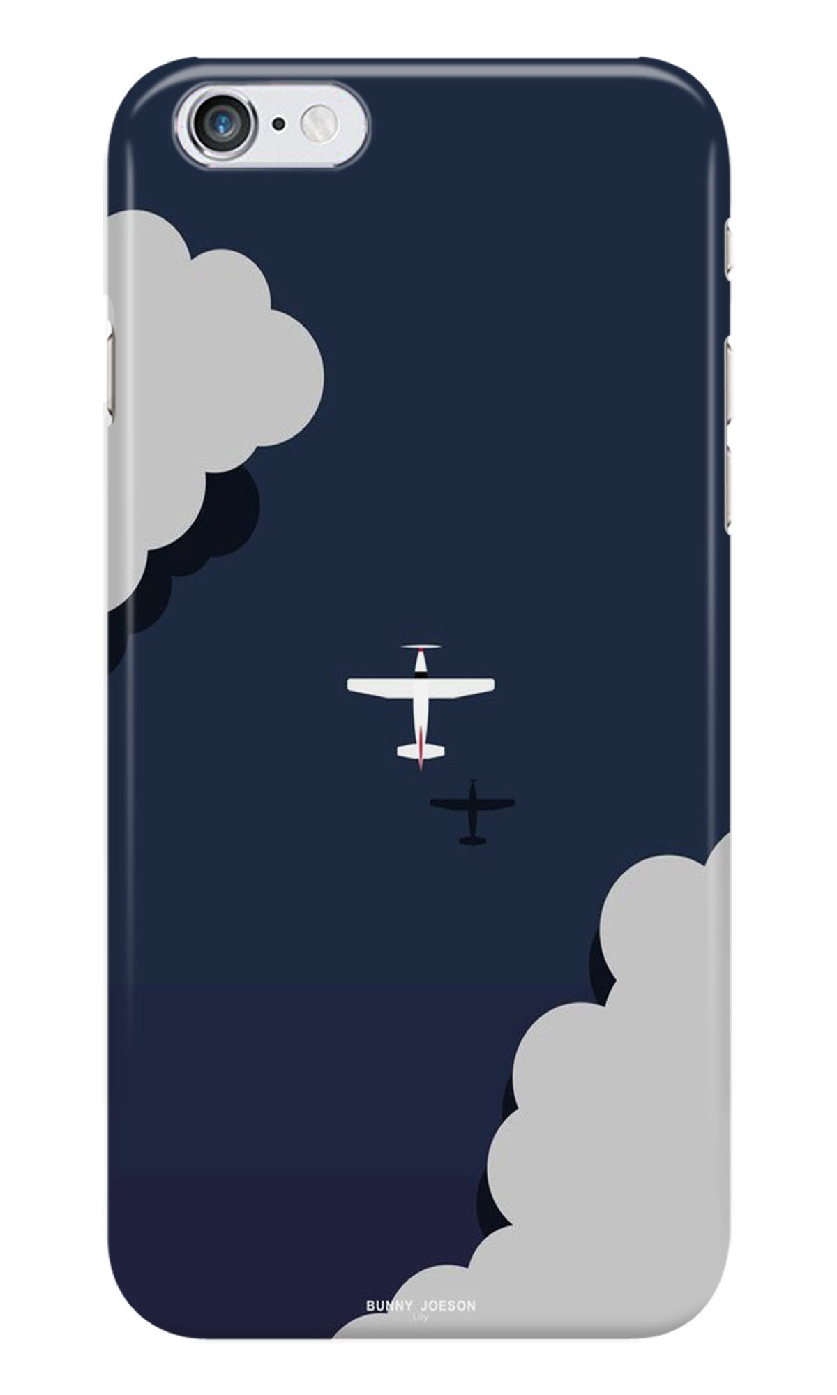 Clouds Plane Case for iPhone 6/ 6s (Design - 196)