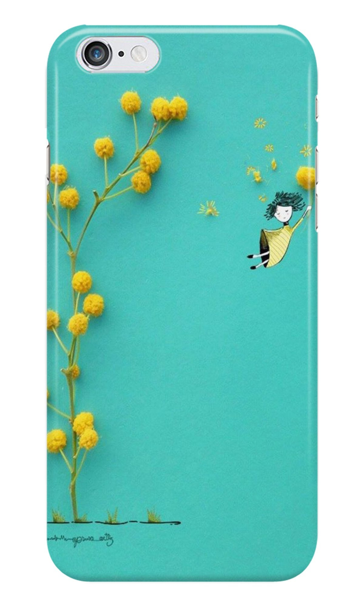 Flowers Girl Case for Iphone 6/6S (Design No. 216)