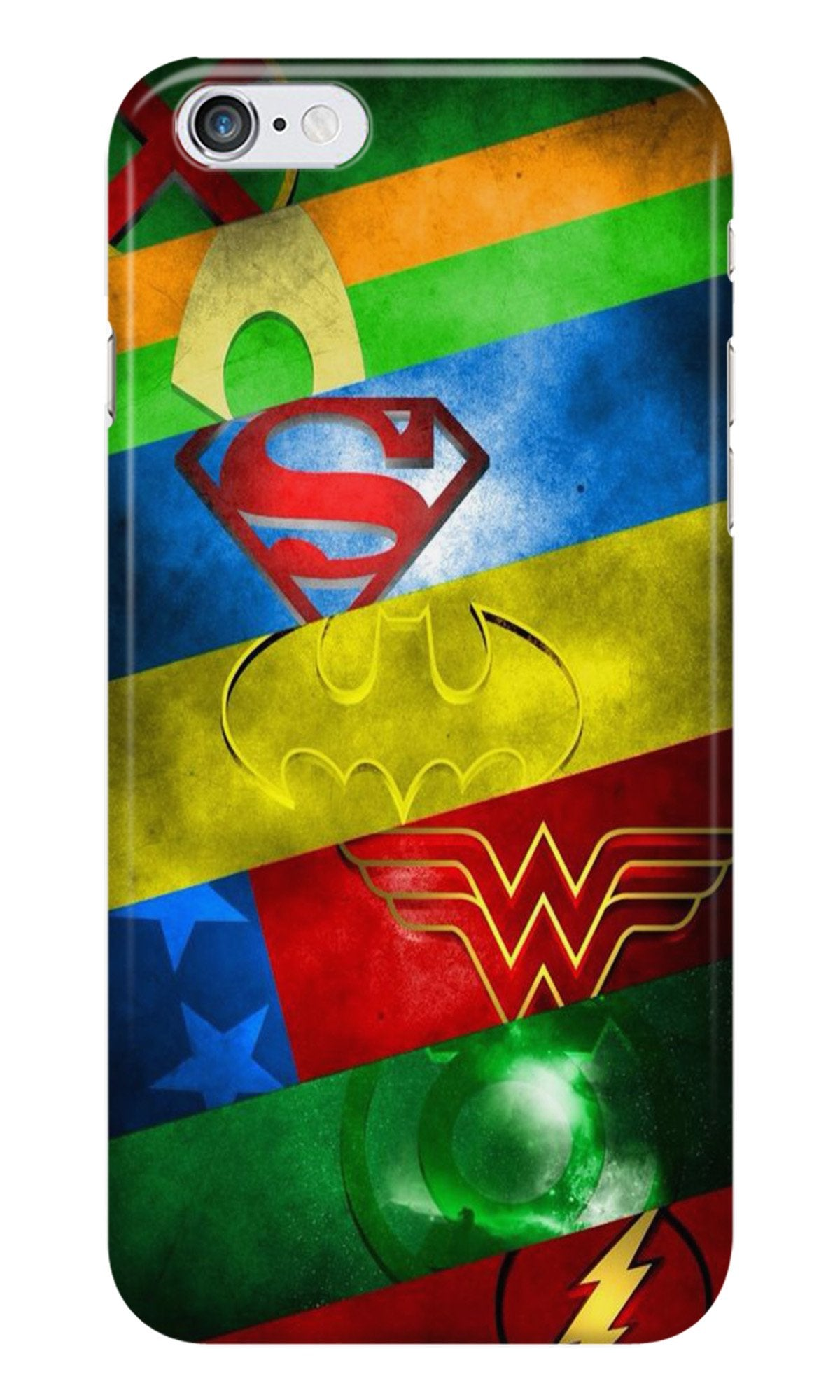 Superheros Logo Case for Iphone 6/6S (Design No. 251)
