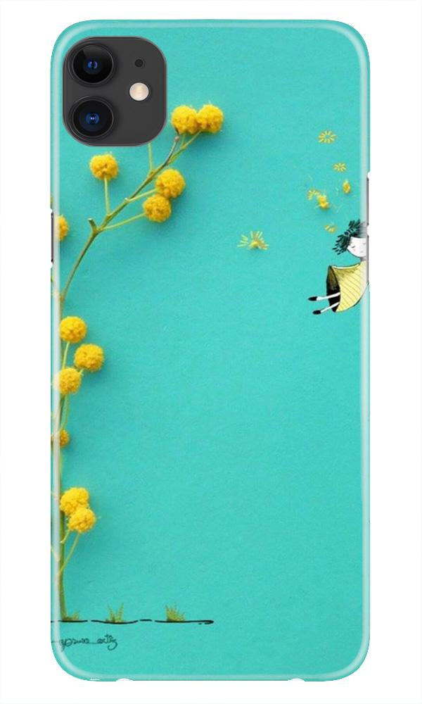 Flowers Girl Case for iPhone 11 Pro Max logo cut (Design No. 216)