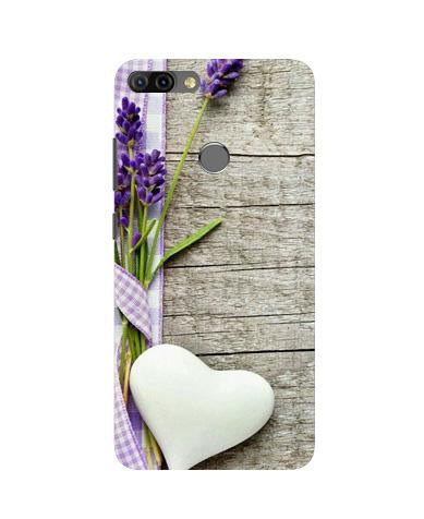 White Heart Case for Infinix Hot 6 Pro (Design No. 298)