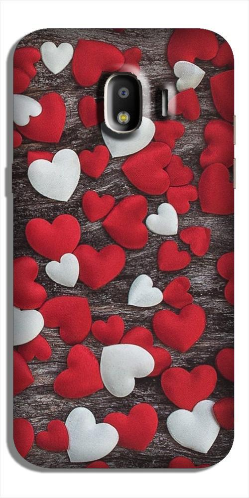 Red White Hearts Case for Galaxy J2 (2018)  (Design - 105)