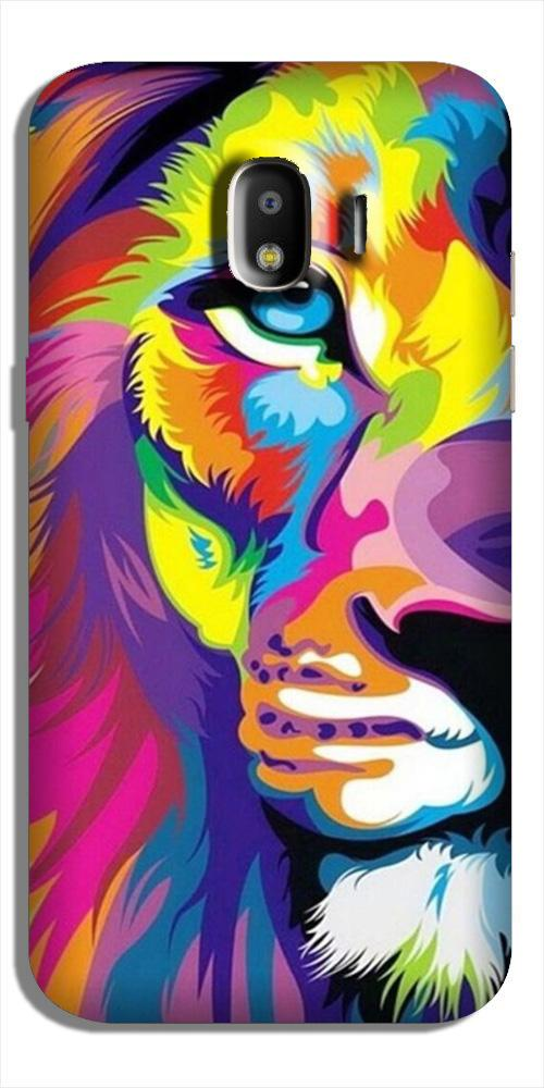 Colorful Lion Case for Galaxy J2 (2018)  (Design - 110)