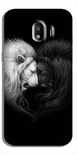 Dark White Lion Case for Galaxy J2 (2018)  (Design - 140)