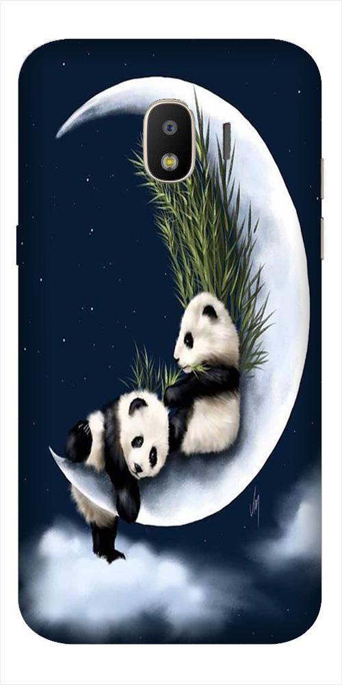 Panda Moon Mobile Back Case for Galaxy J2 2018   (Design - 318)