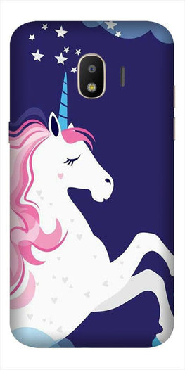Unicorn Mobile Back Case for Galaxy J2 Core   (Design - 365)