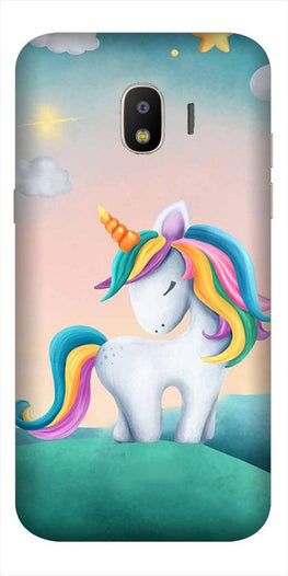 Unicorn Mobile Back Case for Galaxy J4  (Design - 366)