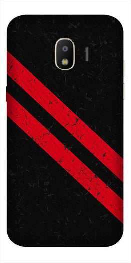 Black Red Pattern Mobile Back Case for Galaxy J2 Core   (Design - 373)
