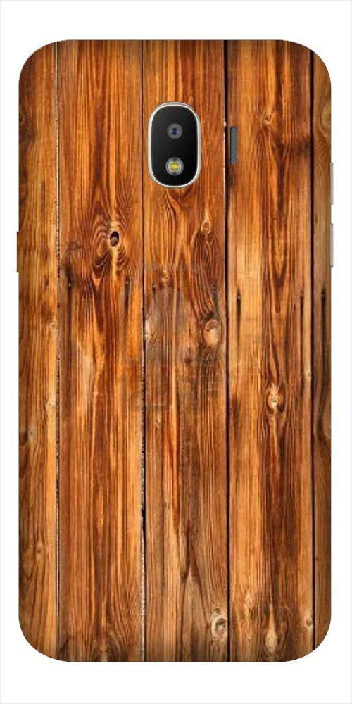 Wooden Texture Mobile Back Case for Galaxy J2 2018   (Design - 376)