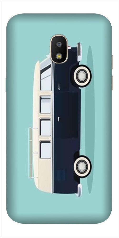 Travel Bus Mobile Back Case for Galaxy J2 2018   (Design - 379)