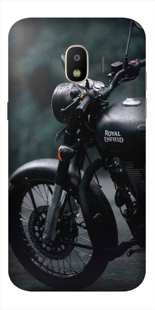 Royal Enfield Mobile Back Case for Galaxy J2 2018   (Design - 380)