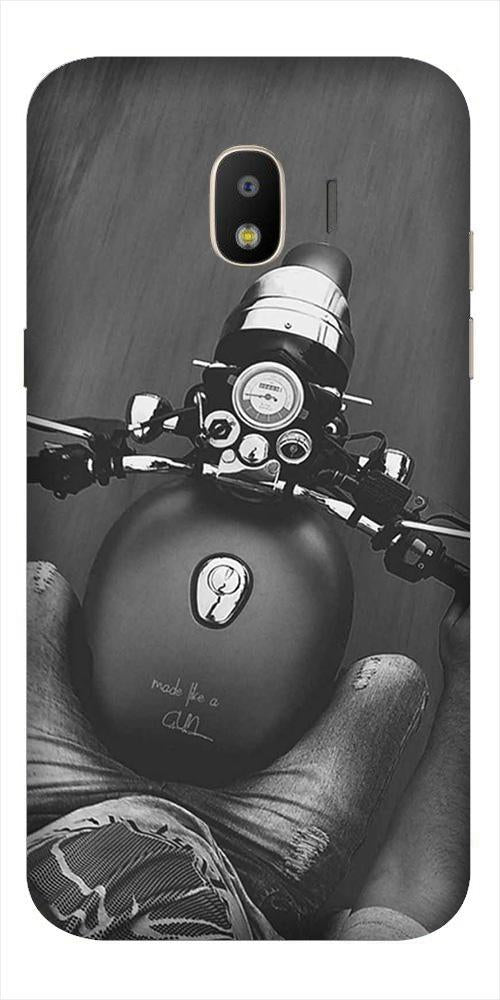 Royal Enfield Mobile Back Case for Galaxy J2 2018   (Design - 382)