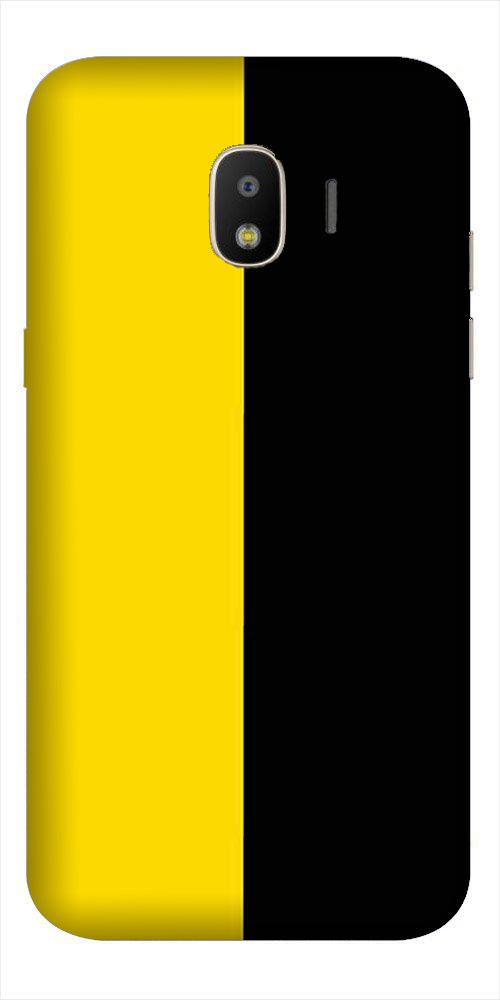 Black Yellow Pattern Mobile Back Case for Galaxy J2 2018   (Design - 397)