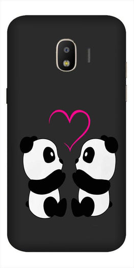 Panda Love Mobile Back Case for Galaxy J2 Core   (Design - 398)